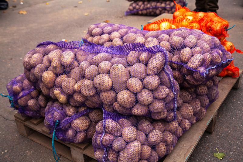 Potatoes in net