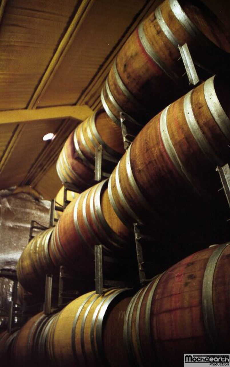 cellar, wine cellar, in a row, indoors, no people, wood - material, shelf, wine, large group of objects, wine cask, barrel, winery, close-up, gavel, basement, day