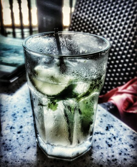 Mojito! 🍹 Hanging Out After Work One Drink On A Hot Muggy Day! Enjoying Life Alcoholic Drink Relaxing Happy Hour! Limes Albahaca