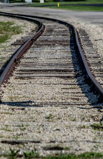 old railroad tracks Close-up Day Nature No People Outdoors Parallel Rail Transportation Railroad Track Transportation