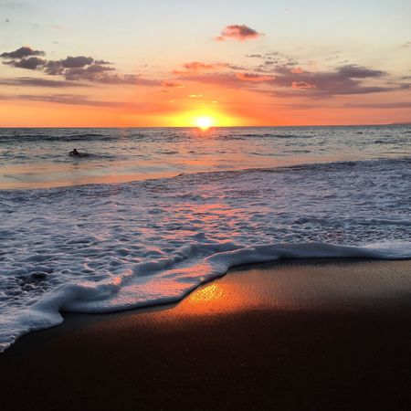 Sunrise Sunrise On The Beach Costa Rica Beauty In Nature Horizon Over Water Tranquility Photo Of The Day