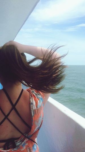 Long Hair One Person Lifestyles Real People Young Adult Beautiful Woman Young Women Sea Sky Leisure Activity Island Hopping Day Ocean Hair Real People Water Boat Ferry Thailand Islands Outdoors Nature Close-up One Young Woman Only Adult