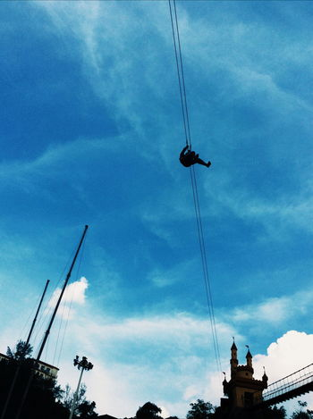 Don't afraid of high, because you're gonna stay fly Flying Fox Malaysia BIG Weekend Hanging Out Hello World Taking Photos Thrill Sky