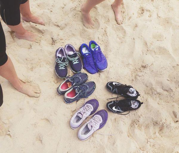 Legs of woman on beach