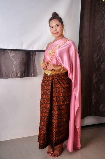 thai dress Thai Thai_dress Thailand🇹🇭 Women Thai Portrait Portrait Of A Girl Pink Color