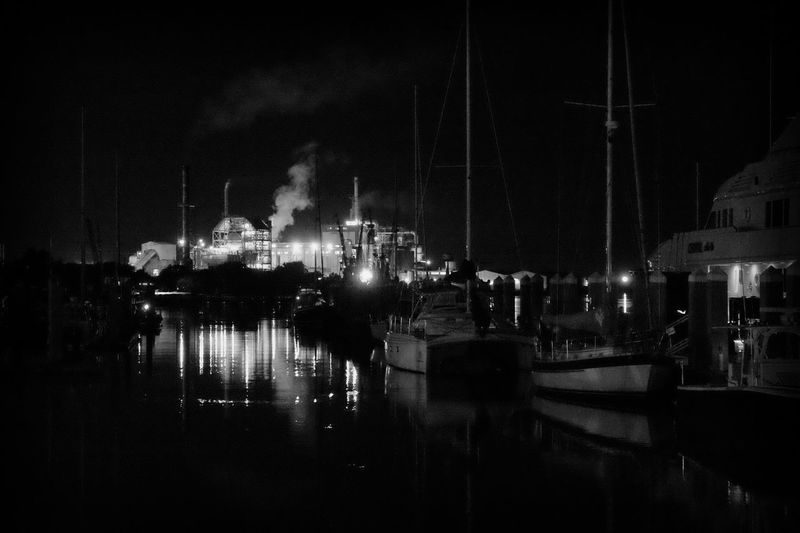 View from the docks in Fernindina Beach Ships Port Shipping Docks Showcase July Fishing Boat Smoke Smokey Relaxing Hidden Gems  Fine Art Photography Black And White Beach Photography Summertime Relaxation Eyemphotography Eye4photography  EyeEm Best Shots At Night Nightphotography Relaxing Moments Instagood Aperture Priority Shades BYOPaper!