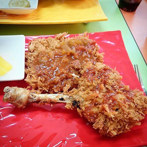 헉 돈까스+치킨까스 주문하니 닭다리! 헉 먹스타그램 돈까스 닭다리까스