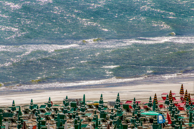 Sea and beach Adriatic Sea Beach Beauty In Nature Coastline Italy Landscape Nature Sea Senigallia Senigallia Beach Water Waves Rolling In
