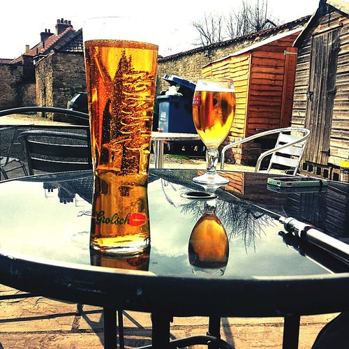 sunny day, why not have a pint ^_^