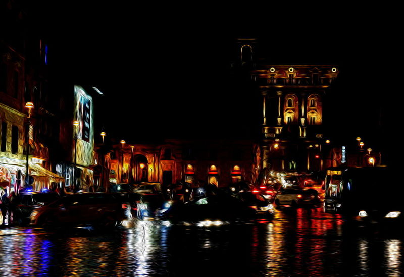 Autumn Cars Dipinto Ad Olio Piazza Venezia Rain Rome Architecture Automobili Building Exterior Built Structure Car Illuminated Italy Large Group Of People Mode Of Transport Night Notte Outdoors Reflection Transportation Travel Destinations