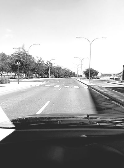 Keeping right on an empty street...Eyeem Philippines Empty Road No Traffic Monochrome