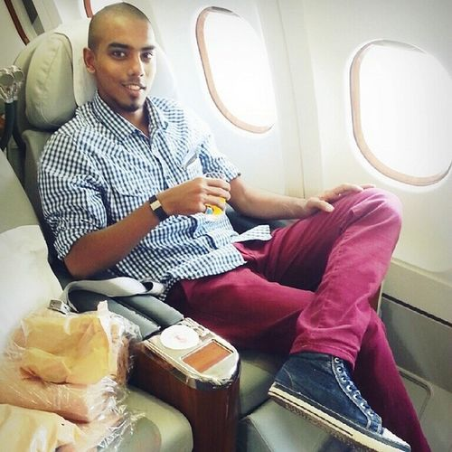 Happy Firstclass Passenger Emirates airhostessclick
