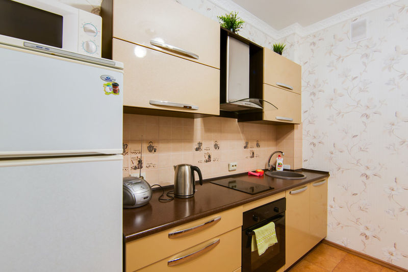 Home Domestic Room Domestic Kitchen Kitchen Household Equipment Indoors  Home Interior Appliance Sink Drawer Stove Kitchen Counter No People Furniture Cabinet Shelf Kitchen Utensil Faucet Container Tidy Room Flooring Modern Luxury Oven Electricity