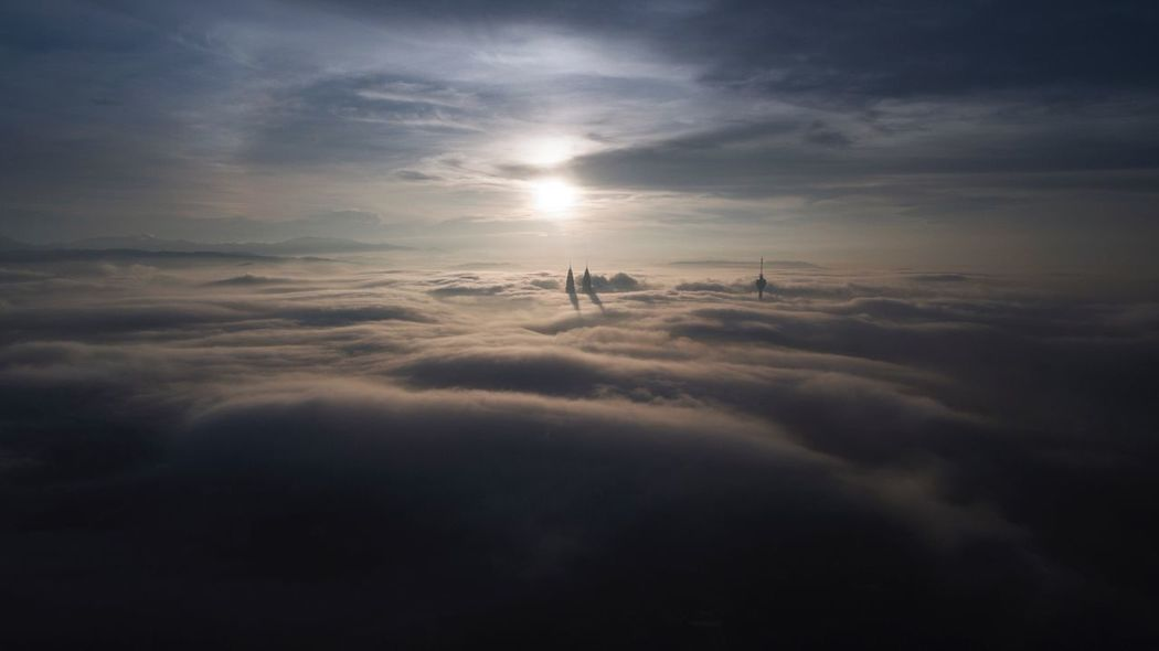 Above the cloud Aerial Landscape Landscape_photography Aerial Cityscape Morning Glory Morning Light Aerial Photography Aerial Sunrise Aerial Aerial View Cloud - Sky Nature Sky Beauty In Nature Silhouette Sun Sunset Friendship Day Real People Winter Tranquil Scene Sunlight Tranquility Scenics Outdoors