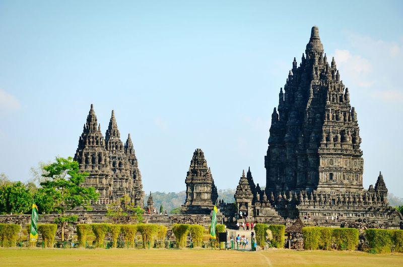 Prambanan temple against sky