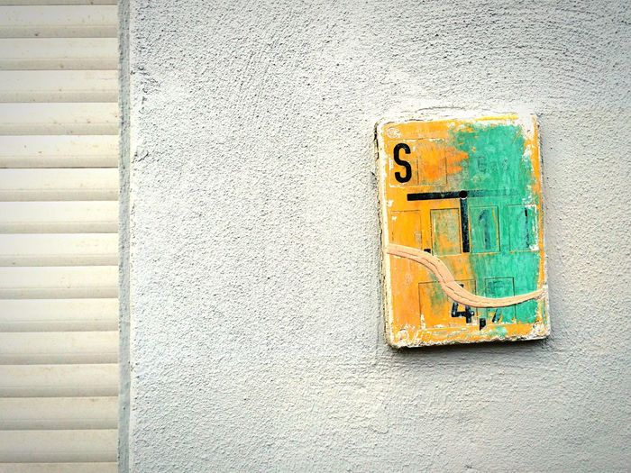 Sign on a wall