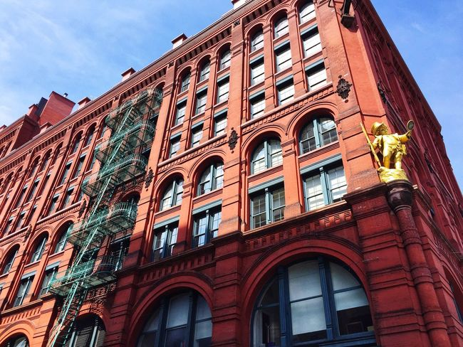 Building Vacations USA Little Italy New York Low Angle View Architecture Window Building Exterior Built Structure Sky No People