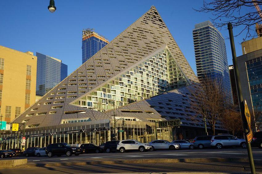 VIA NYC Manhattan Building Exterior Vía Architecture Architecturelovers Tetrahedron Hellskitchen