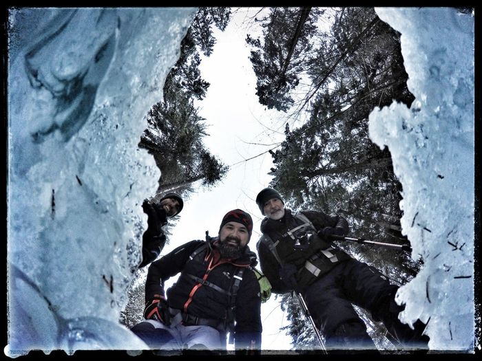 Winter Snow Cold Temperature Tree Outdoors Mountain Nature Adventure Slovenský Raj Beauty In Nature Iceclimbing Real People