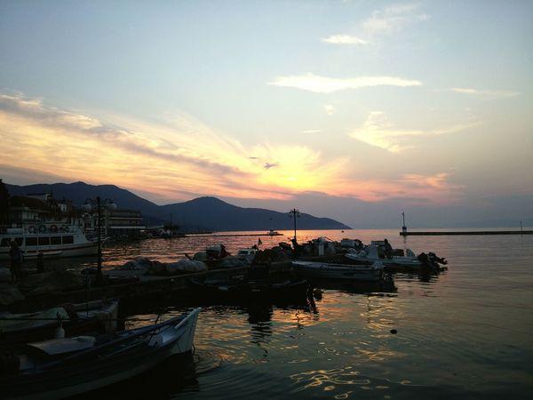 Thassos @ Kavala In Greece  Kavala Sunset_collection Sunset Sea And Sky Seasunset Pinksky Seaview Wonderful Seaview
