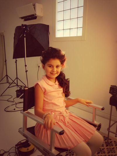 Evelina gjort hår! Hon rockar!! Sötaste modellen :) klänning från reminded :D