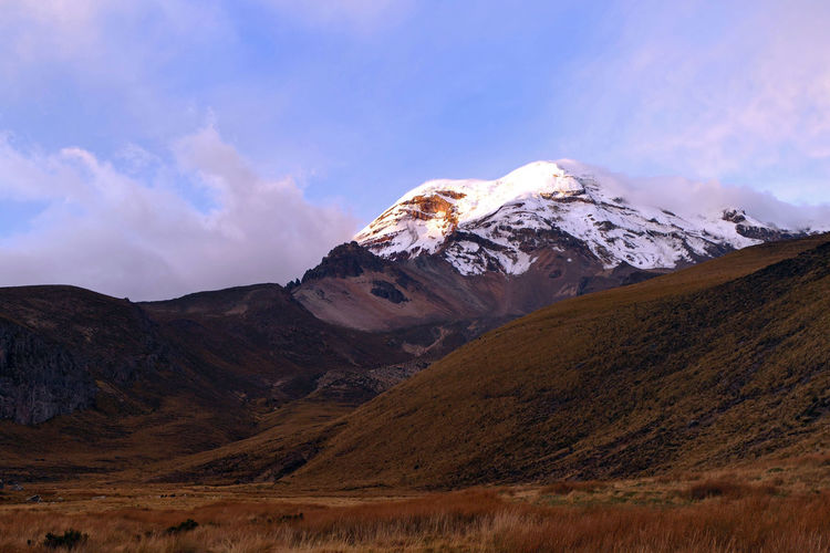 Andes Colors Dramatic Sky Shades Sunlight View Chimborazo Cloud - Sky Colorful Dramatic Landscape Ecuador Mountain Mountain Range Nature Scenics Sky Snowcapped Mountain South America Sunlight, Shades And Shadows Sunset