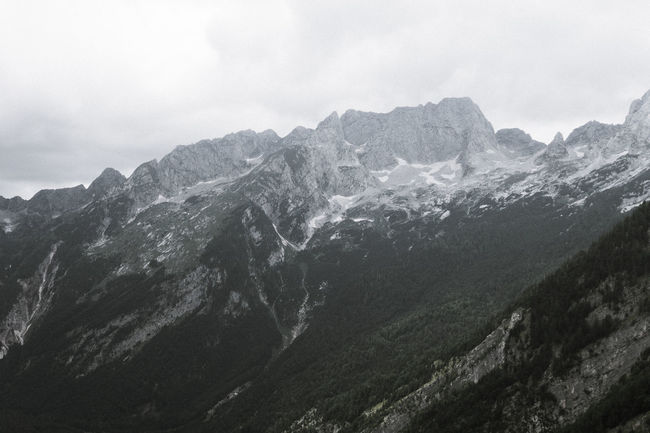 Balkan Roadtrip Beauty In Nature Challenge Cloud - Sky Cold Temperature Environment Formation Landscape Mountain Mountain Peak Mountain Range Nature No People Outdoors Range Rock Scenery Scenics - Nature Sky Snow Travel
