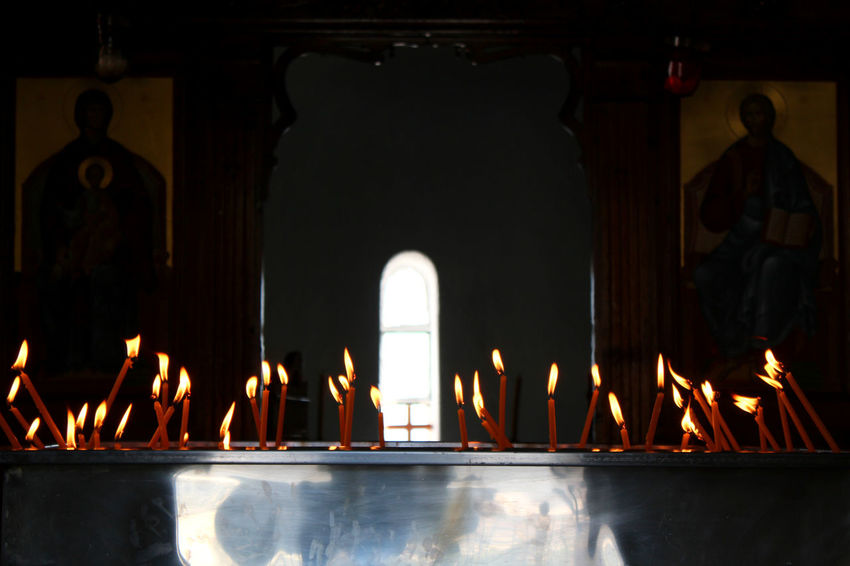 Altar Candle Candles Chapel Church Inside Church Religion And Tradition Religious Art The Week On EyeEm Candlelight Dark Inside Flame Ikon Illuminated Illumination Light And Shadow Light In The Darkness Place Of Worship Religion Spirituality Window