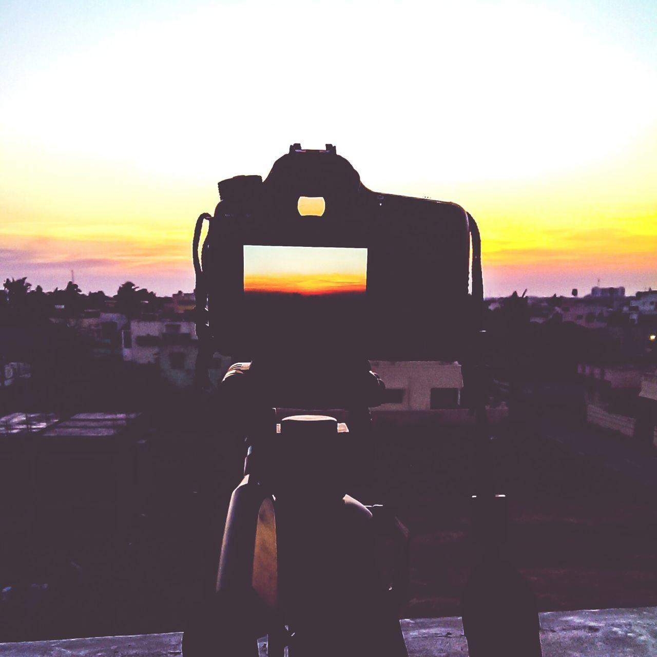 Sunset View Being Seen Through Camera