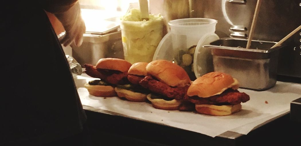 Four Fukus Spicy Chicken Sandwich David Chang FUKU Food And Drink Food Indoors  Freshness