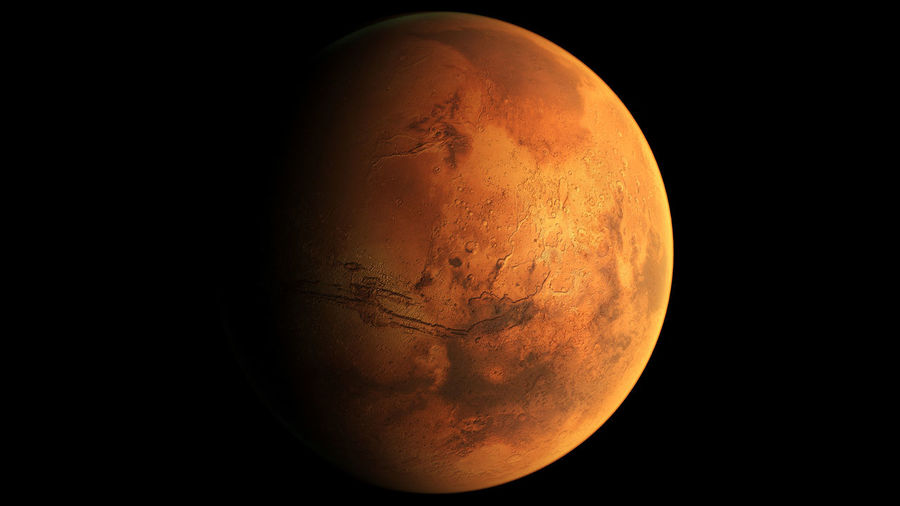 Mars view from