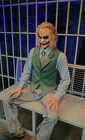 One Person Indoors  Prison Cage Sitting Looking At Camera Joker Smile Jokerface Jokersmile