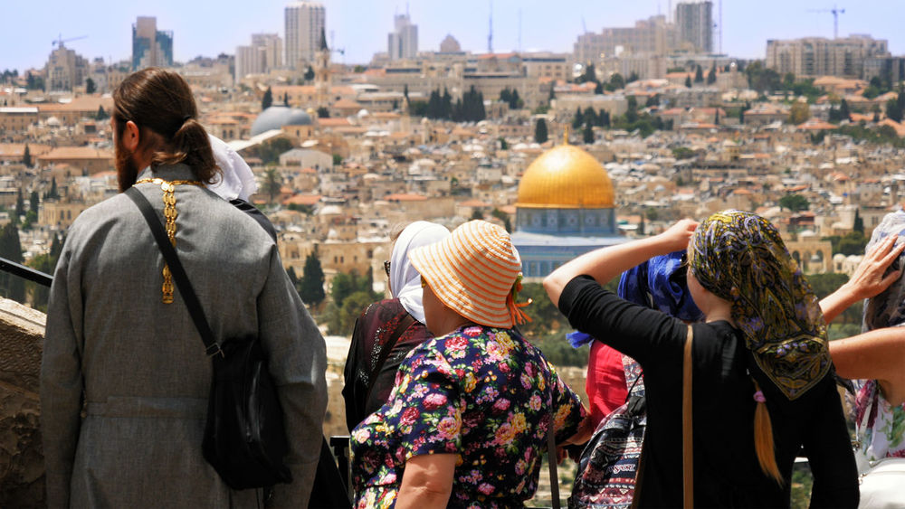 Al Aqsa Dome Of The Rock Palestine Adult Adults Only Architecture Building Exterior Built Structure City City Life Cityscape Day Israel Jerusalem Lifestyles Men One Person Outdoors People Real People Rear View Standing Travel Destinations Women Young Adult An Eye For Travel