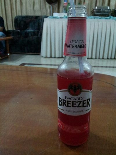 Chillin' With A Bottle Of Bacardi Breezer