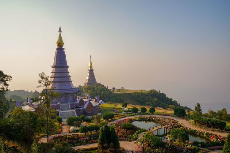 Built Structure Sky Architecture Building Exterior Religion Belief Plant Building Place Of Worship Spirituality Nature Tree Clear Sky No People History Travel The Past Tourism Outdoors Spire  Doi Inthanon Chiang Mai Chiang Mai | Thailand