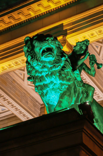 Architecture_collection Art Art And Craft Berln Creativity Festival Of Lights Front View Gendarmen Markt Gendarmenmarkt Green Grün Lion Loewe Skulptur