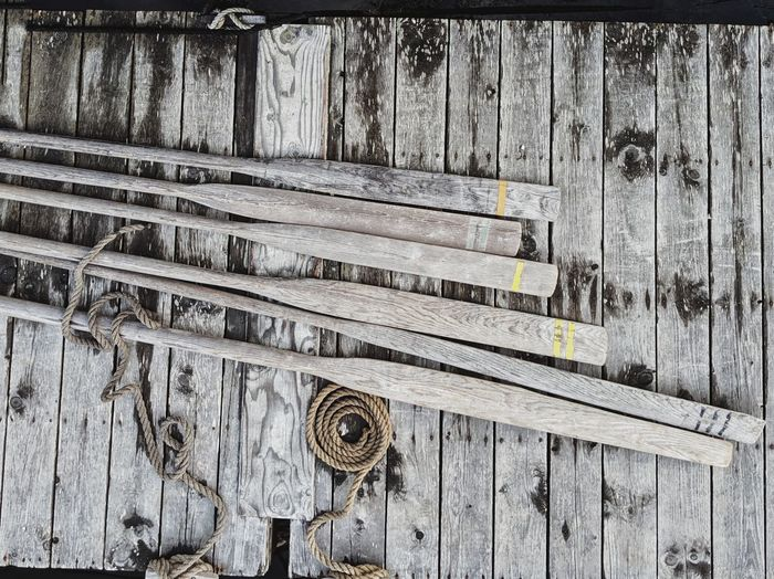 oars and ropes.