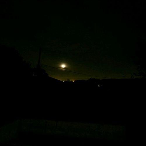 Night Lights the Moonset The Dark Landscape