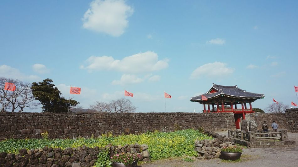 Sky Jeju JEJU ISLAND  Korea 성읍민속마을 Wall Flag Live For The Story Wall - Building Feature Traditional Architecture
