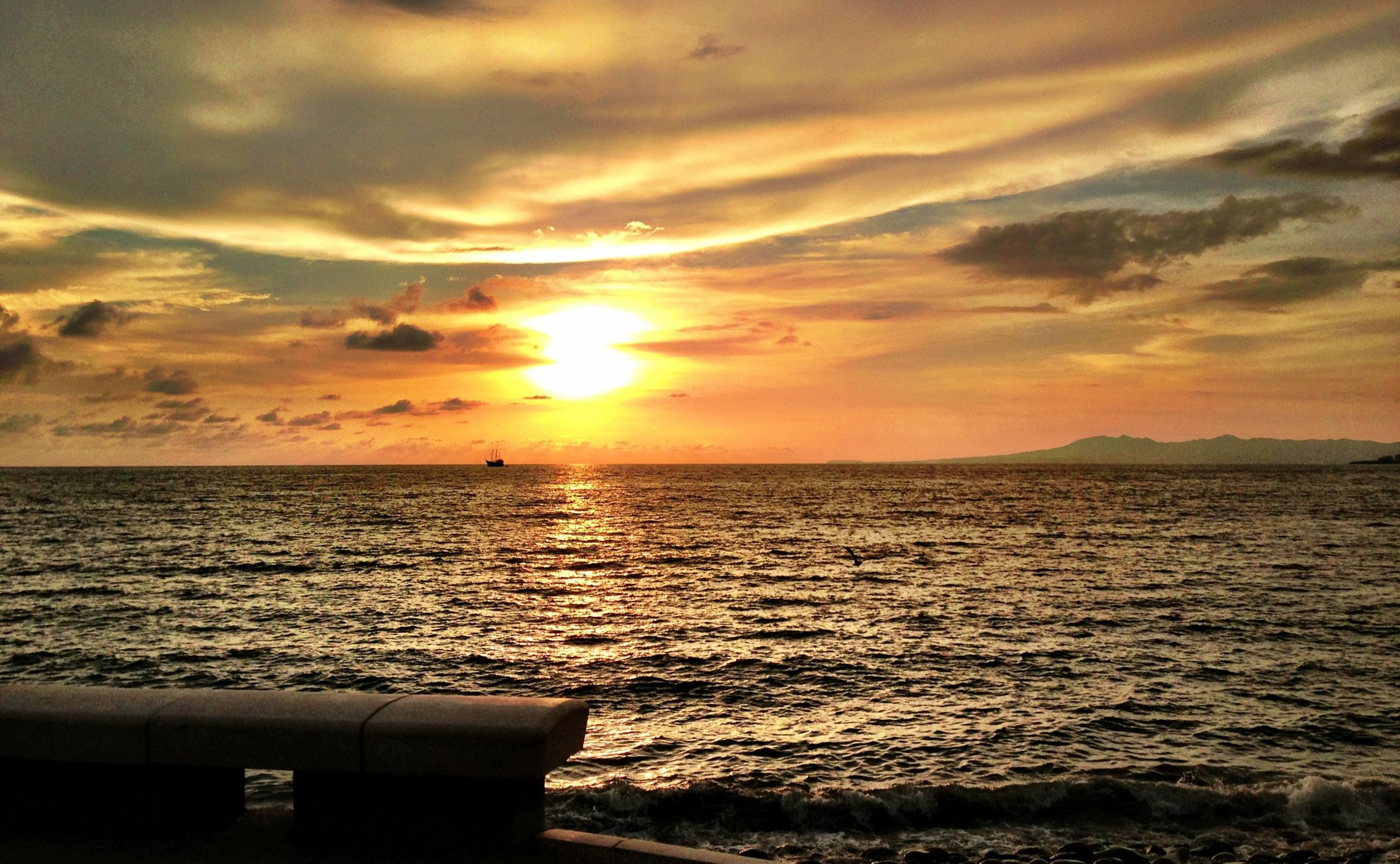 sunset, sea, water, horizon over water, sun, scenics, sky, beauty in nature, tranquil scene, orange color, tranquility, idyllic, cloud - sky, nature, rippled, sunlight, cloud, beach, seascape, remote