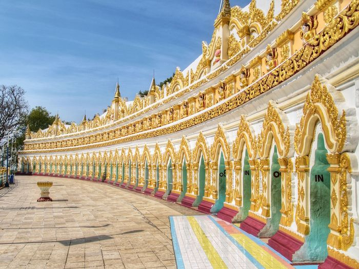 Sagaing Hill Architecture Palace History Travel Destinations Sky Multi Colored Outdoors