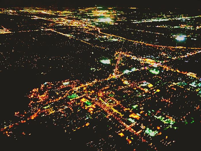 A Bird's Eye View Night View Lights City City Lights At Night Battle Of The Cities Beautifully Organized