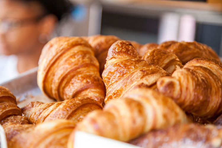 Fresh made french croissants Baked Baked Goods Breakfast Croissant Croissant For Breakfast Croissants Food Food Photography French Food Typical France