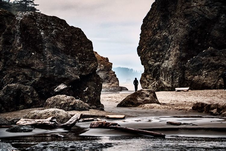 Ruby Beach Olympic National Park Rock Water Rock - Object Rock Formation Nature Sea Beauty In Nature Scenics - Nature Tranquility Tranquil Scene