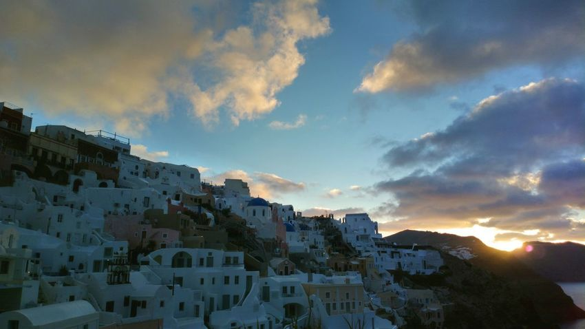 || Nature Theories || A Santorini Sunrise, Greece. TheFoneFanatic Nokia  Nokia808 Vacations Mobilephotography PhonePhotography Colorful Nature Sunrise Cityscape Mountain Town Residential Building Beauty TOWNSCAPE