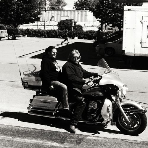 On The Road Blackandwhite Streetphotography Bikers