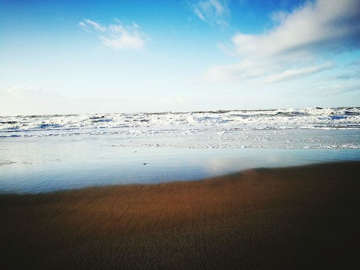 Outdoors Nature Beauty In Nature Beach Sand Sea Water Sky Reflection No People Scenics