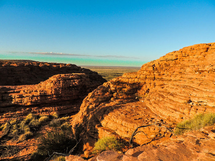 Kings Canyon Australia Outback Mountain Red Centre Northern Territory Desert Sand Dune Landscape Scenics Outdoors Nature Sky Day Clear Sky Arid Climate No People Beauty In Nature Sand