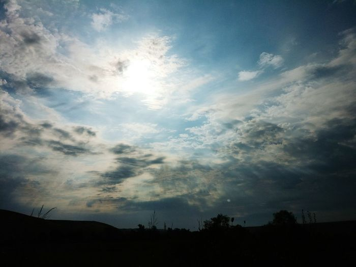 Scenic shot of silhouette landscape against sky