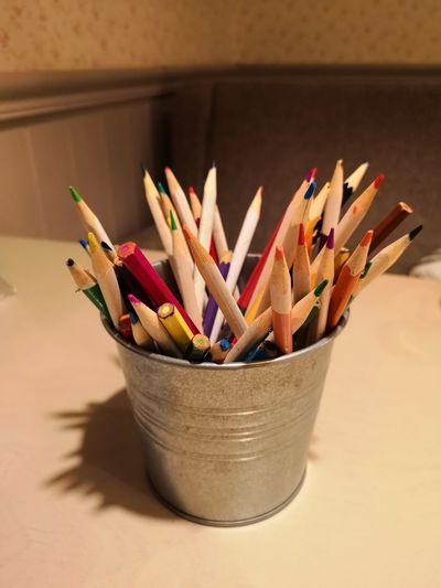 EyeEm Selects Desk Organizer Multi Colored Variation Pencil Close-up